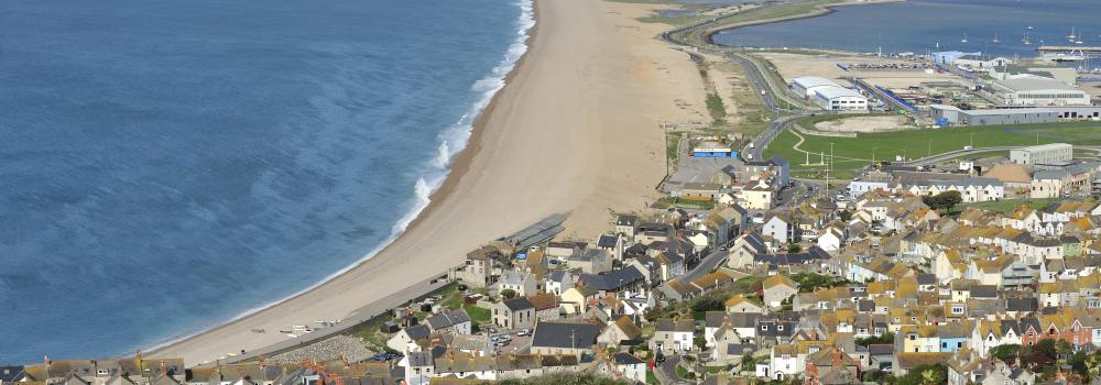Chesil Beach from Cliff Top © VisitEngland