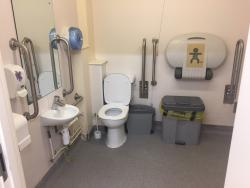 Toilet in one of our accessible changing rooms © WPNSA