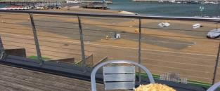 Enjoy cake on the balcony looking out over the Jurassic Coast © WPNSA