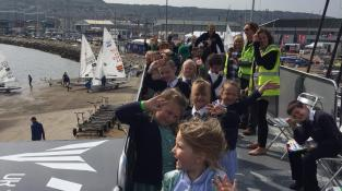 IPACA pupils enjoying ISAF Sailing World Cup