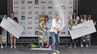 Hannah & Sakia celebrating Gold at Prize Giving