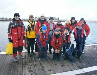 Some of our Volunteers on the Pontoon