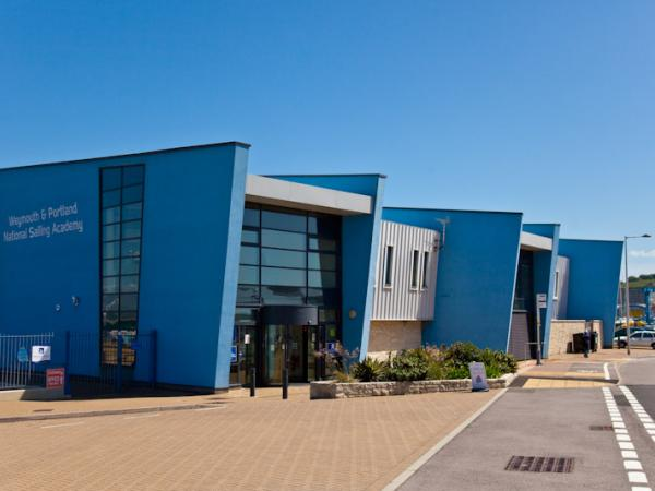 View of the front of the building from the car park (where there are six blue badge parking spaces).  The access is through the automatic doors at the front © WPNSA